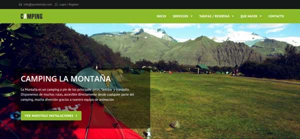 Plantilla web camping