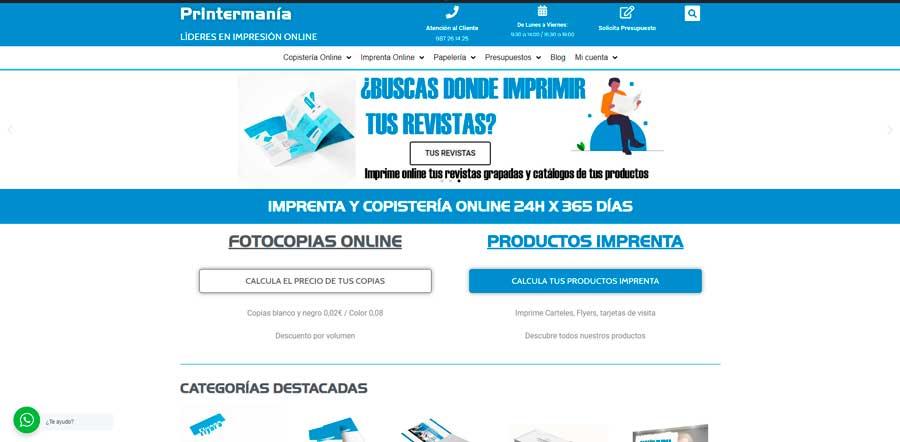 tienda online Printermanía
